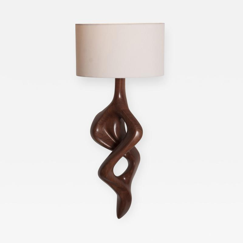 Amorph Nomi Sconces Natural Walnut with Ivory shade