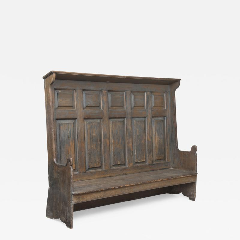 An 18th century American pine settle possibly Pennsylvania