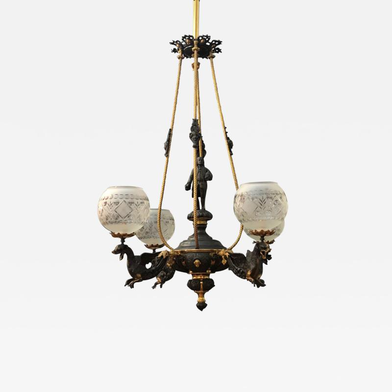 An American Gas Chandelier