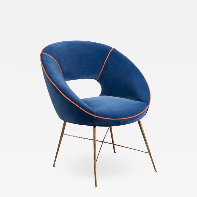An Egg Shaped Modernist Italian Chair 1950s