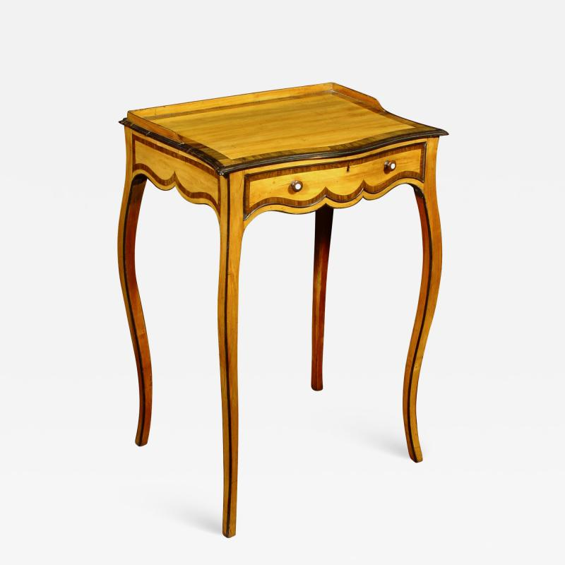 An Elegant George III Satinwood Occasional Table