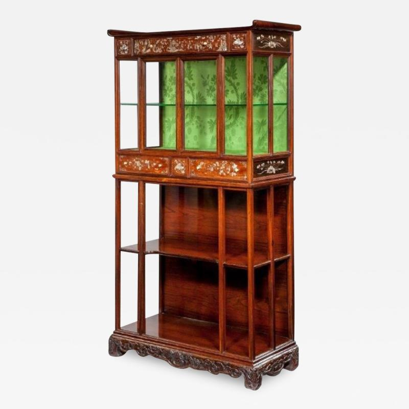 An English Victorian exhibition quality cabinet