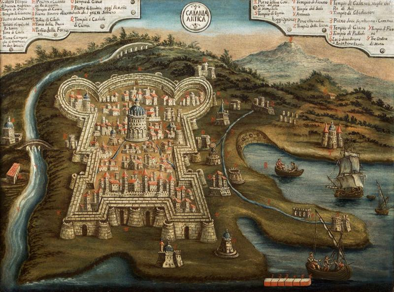 An Imaginary Topographical View Of Ancient Catania