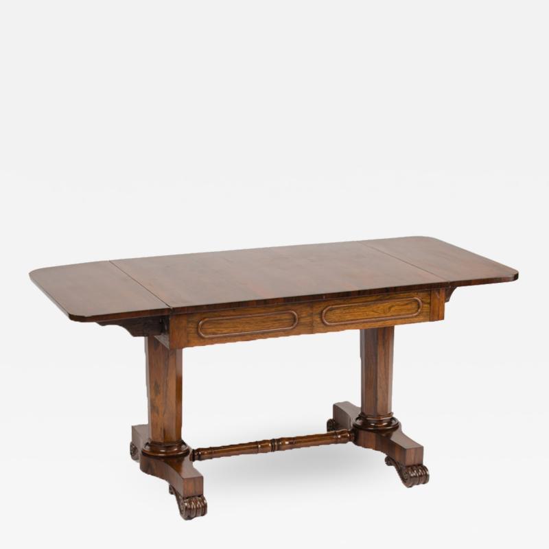 An Irish Regency rosewood sofa table circa 1830