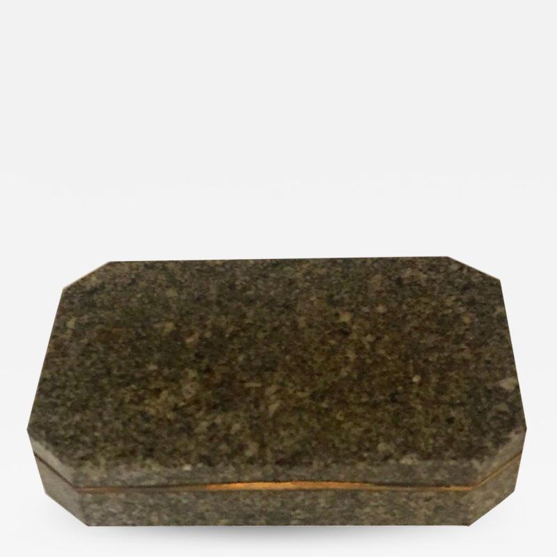 An Ormolu Mounted Green Granite Snuff Box Swedish Early 19th Century