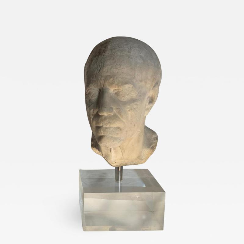 Ancient Roman Portrait Bust of a Man 1st Century BC
