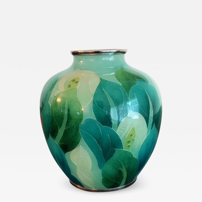 Ando Jubei A Japanese Plique a jour vase by Ando Jubei Company