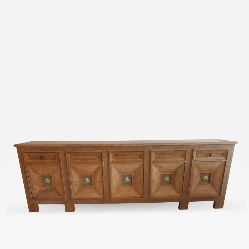 Andr Arbus Cerused Oak and Gilt Cabinet