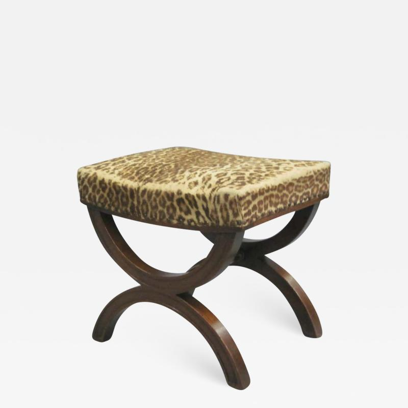 Andr Arbus French Modern Neoclassical Bench or Stool in the Manner of Andre Arbus