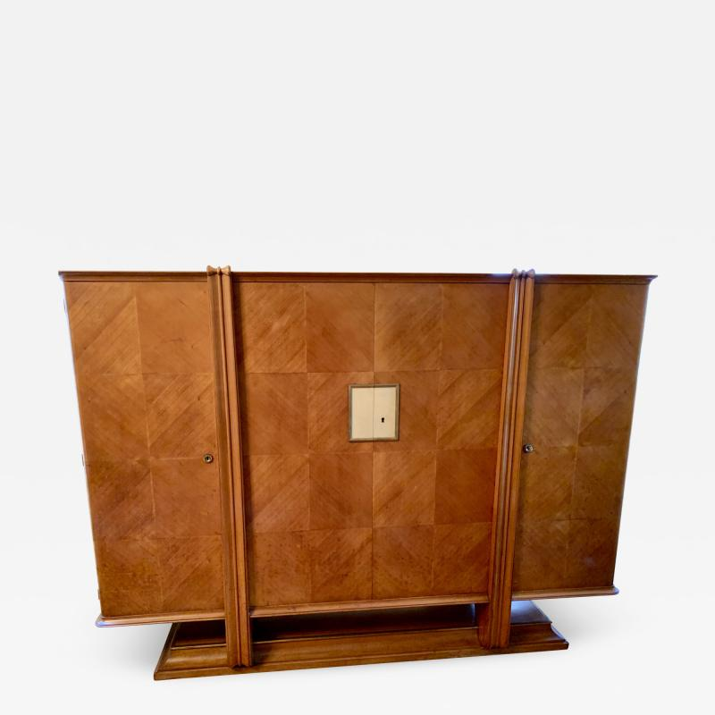 Andr Arbus Maple 4 Door French Cabinet in the Manner of Andre Arbus