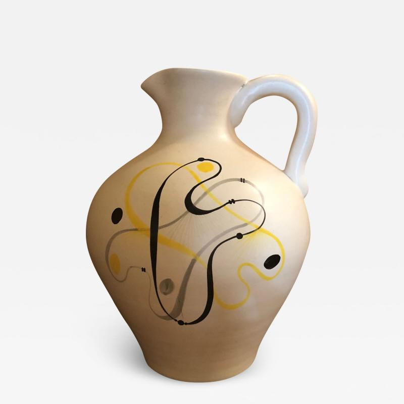 Andr Baud Ceramic Jug Vallauris France 1960s