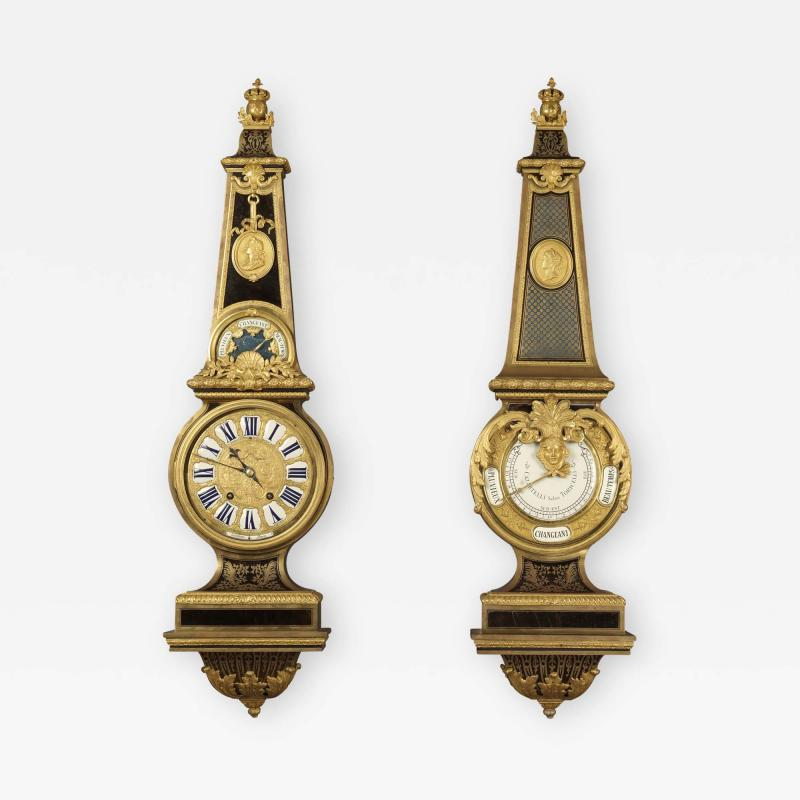Andr Charles Boulle A Louis XIV Style Clock and Barometer Set