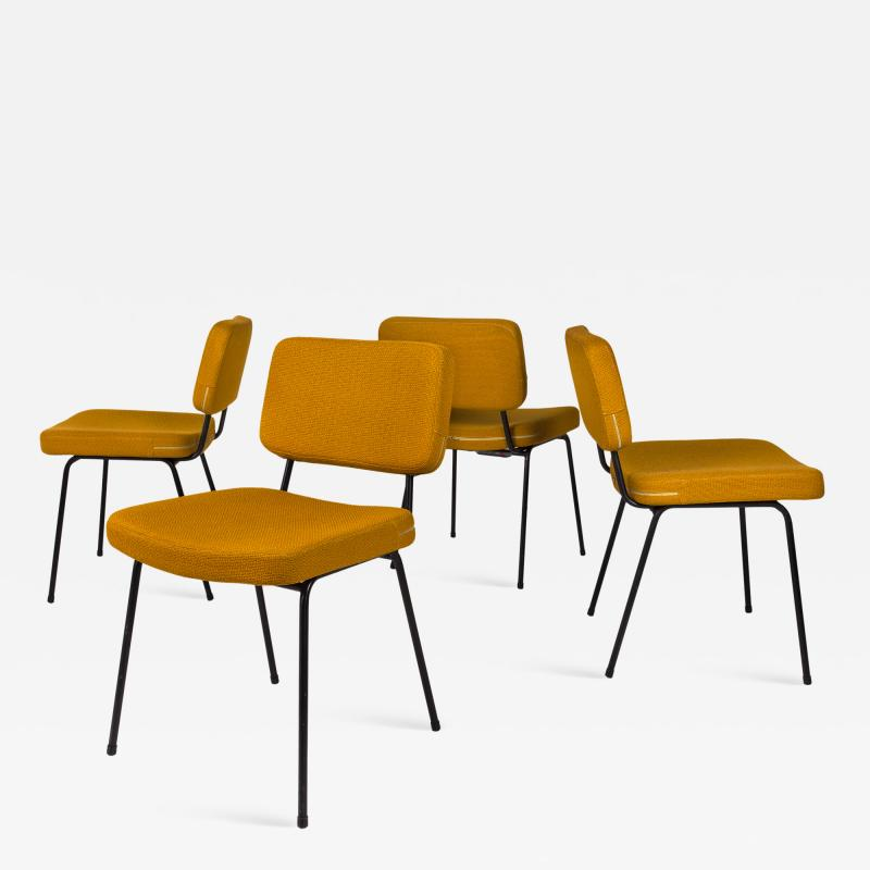 Andr Simard Set of 4 Chairs by Andr Simard for Airborne circa 1955 France