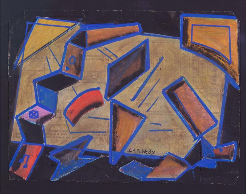 Andre Lanskoy 1902 76 Gouache on Paper Russian ca 1920