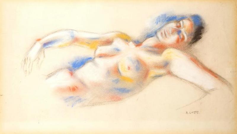 Andre Lhote Andr Lhote Original Signed Pastel Lying Woman Circa 1920