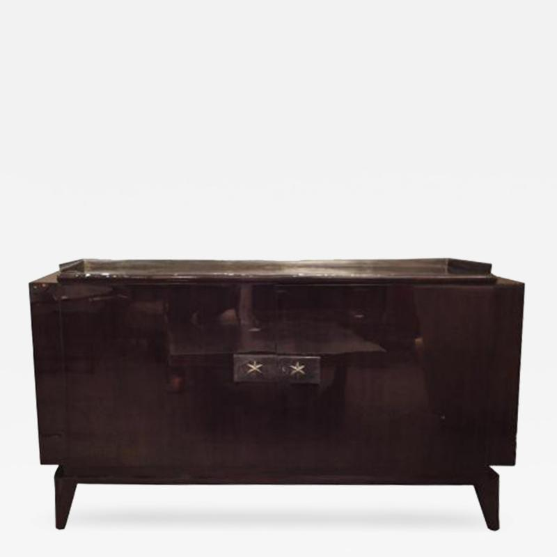 Andre Sornay A Two Door Art Deco Sideboard in Palisander and Bronze