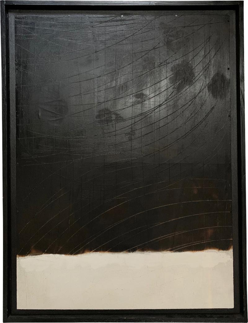Andrea Brandi Andrea Brandi Mixed Media Black And White Abstract Painting Italy 2013