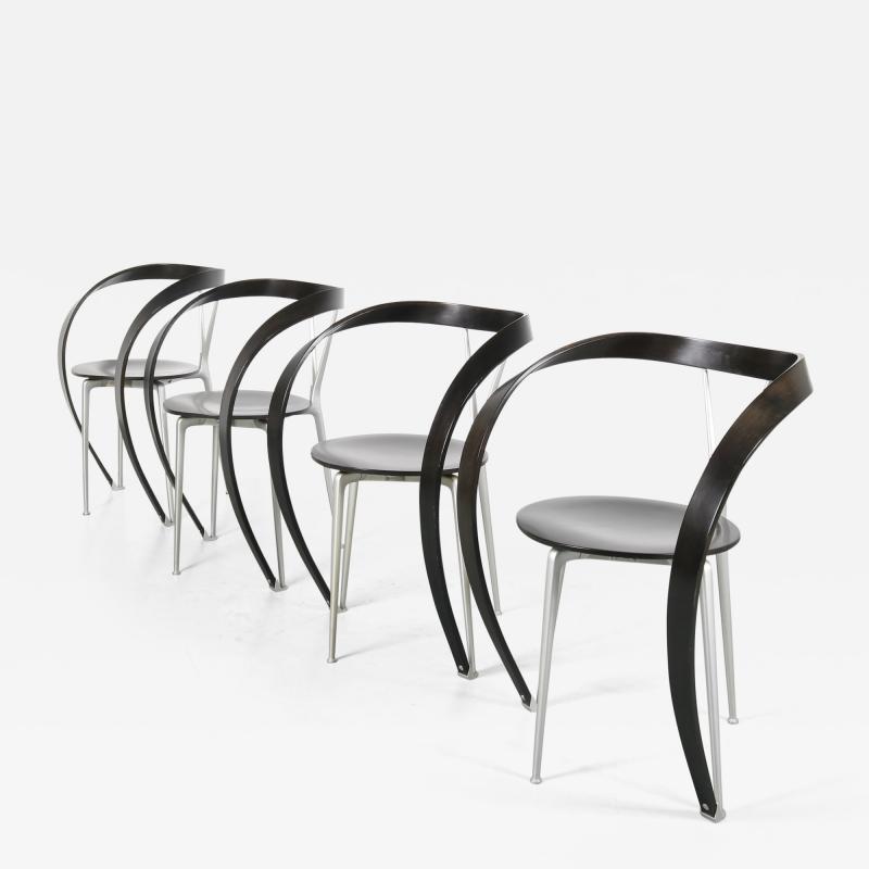 Andrea Branzi Set of 4 Andrea Branzi Revers Chairs for Cassina Italy 1990