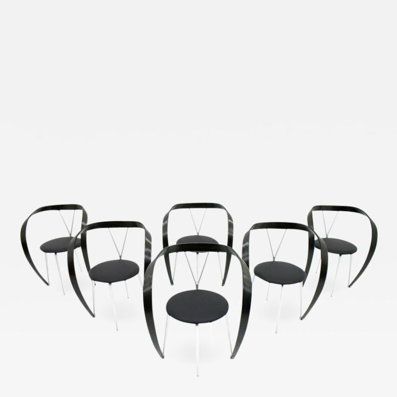 Andrea Branzi Set of Six Revers Chairs Andrea Branzi for Cassina 1993