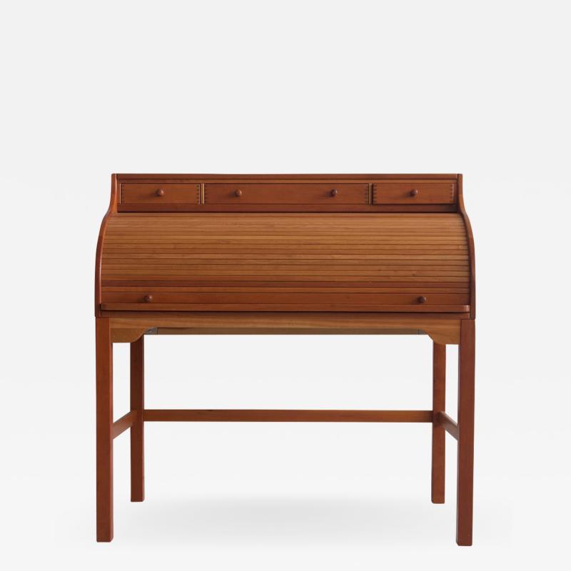 Andreas Hansen Solid American Cherrywood Writing Desk by Andreas Hansen