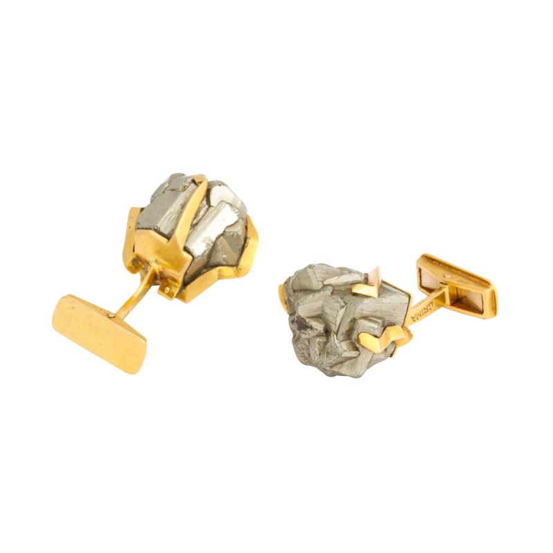 Andrew Grima Gold and Hematite Cufflinks by Andrew Grima