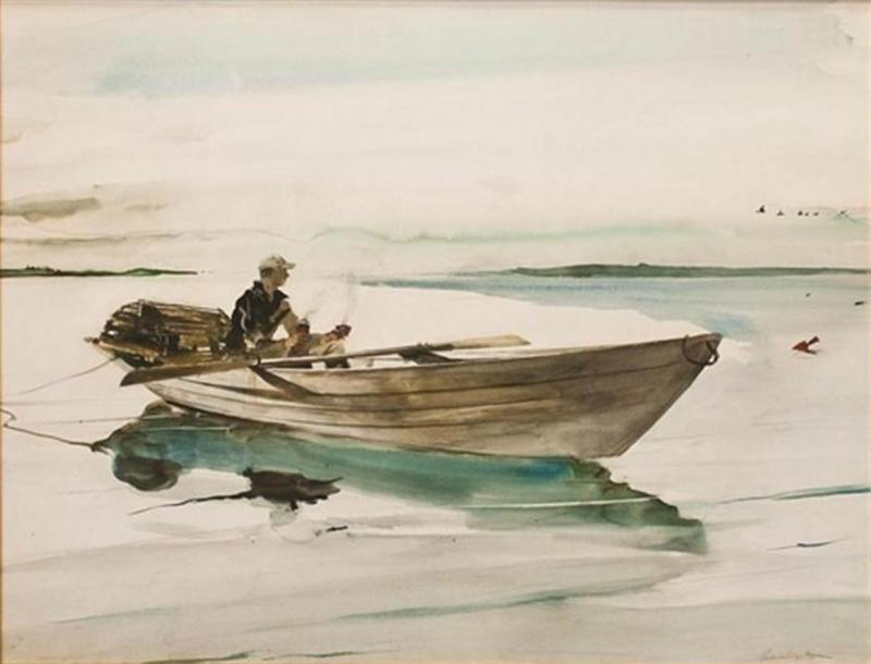 Andrew Newell Wyeth The Lobster Man