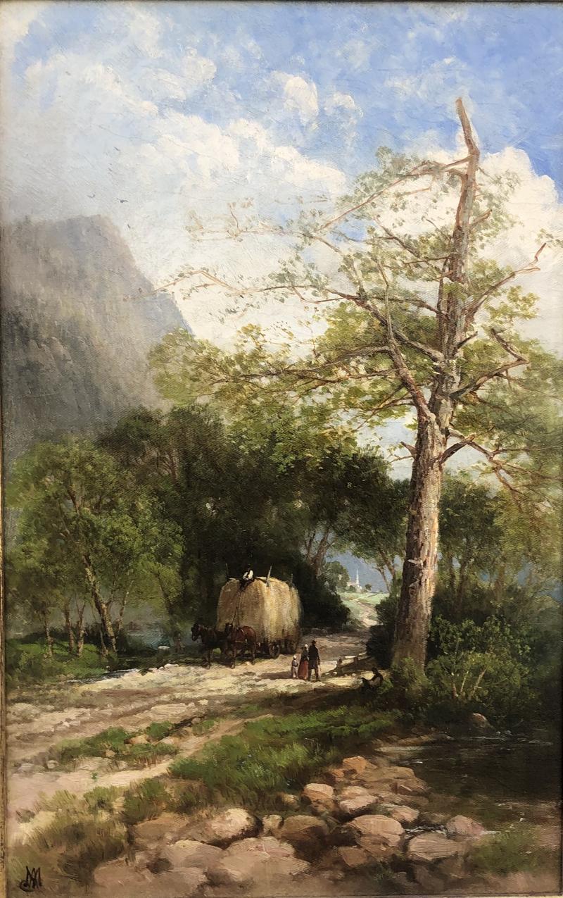 Andrew W Melrose Haying Along the Hudson
