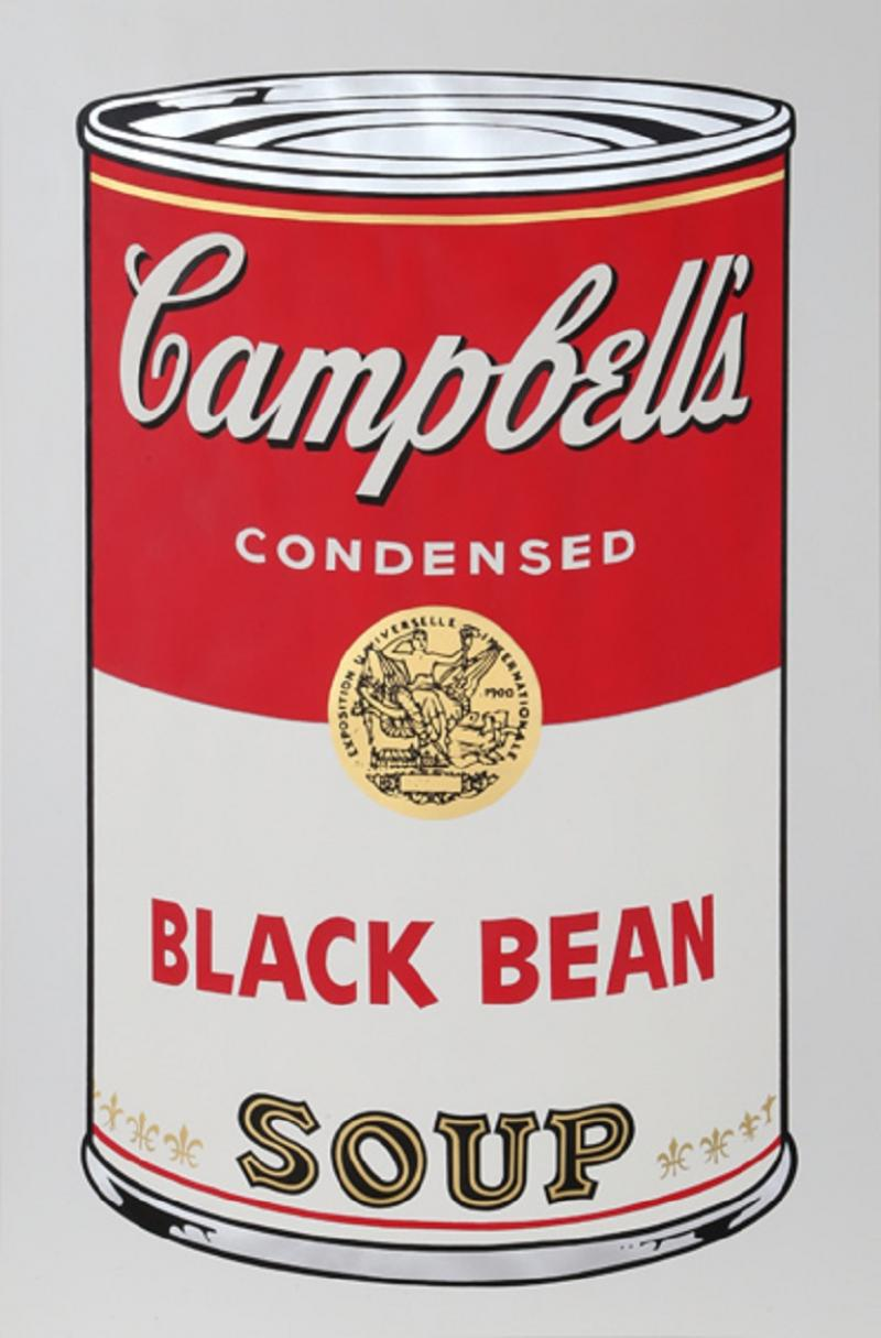 Andy Warhol Black Bean from Campbells Soup I FS II 44
