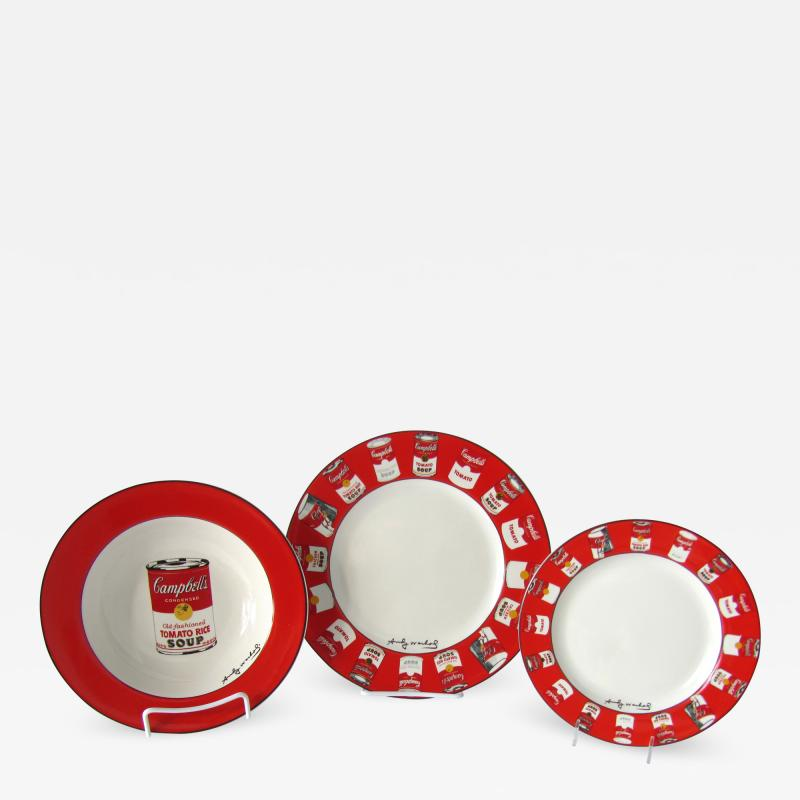 Andy Warhol Set of 24 Place Settings Andy Warhol Campbells Soup Dinnerware