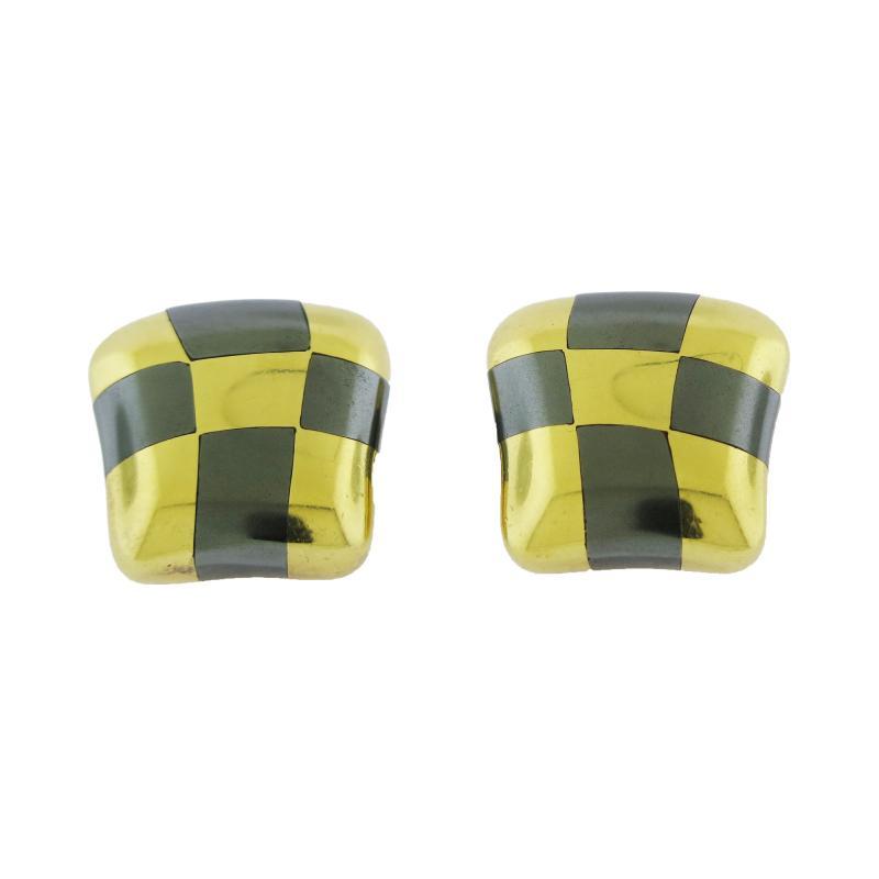Angela Cummings Tiffany Co Inlay Checkerboard Earrings by Angela Cummings