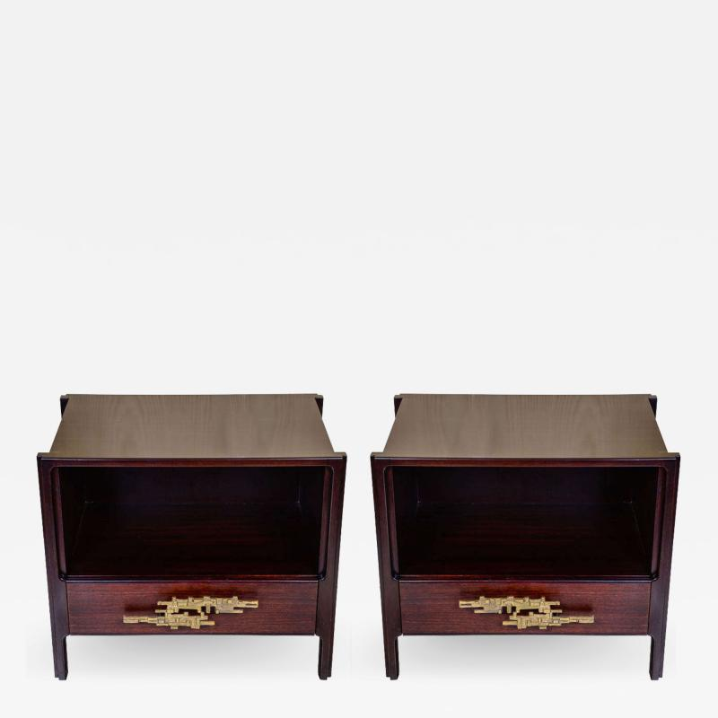 Angelo Brotto Pair of side tables attributed to Angelo Brotto