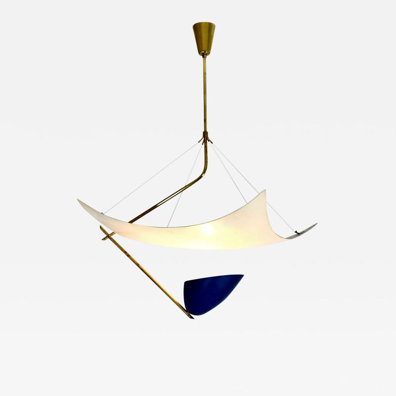 Angelo Lelii Lelli Rare chandelier Model 12385