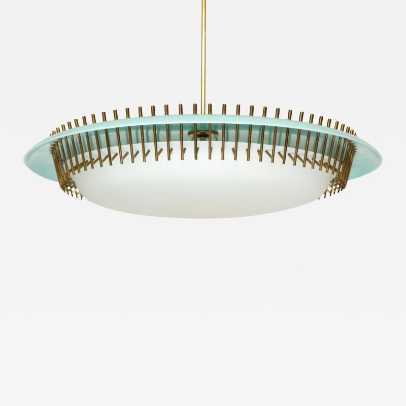 Angelo Lelii Lelli Rare suspension light fixture by Angelo Lelii for Arredoluce