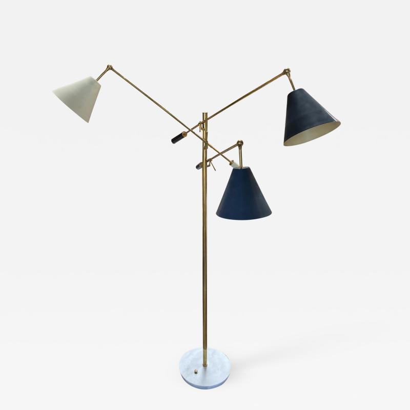 Angelo Lelli Lelii Angelo Lelii for Arredoluce Original Rare Triennale Floor Lamp