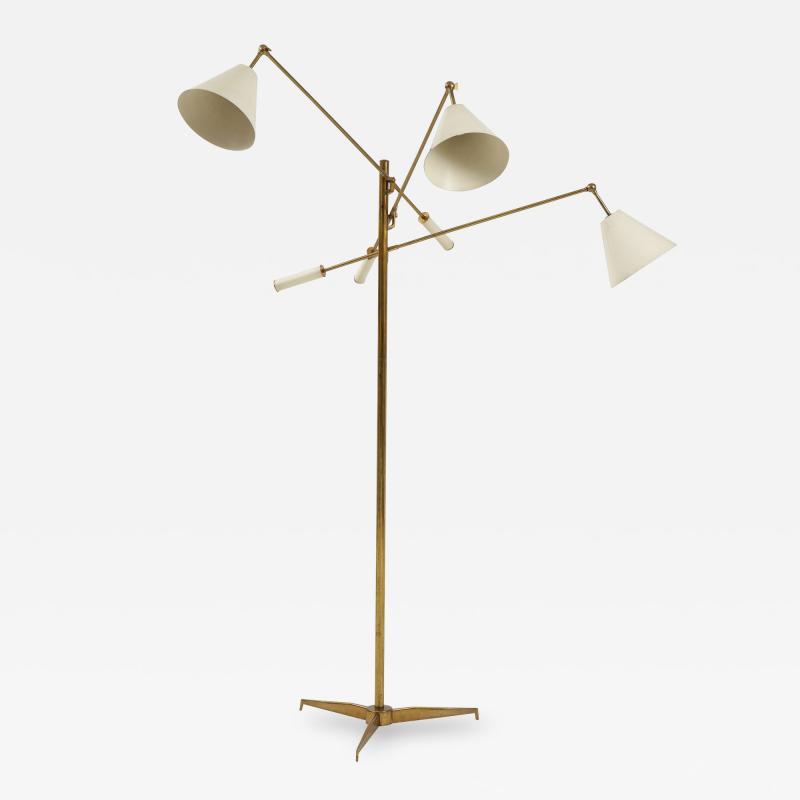 Angelo Lelli Lelii Original Rare 1950s Triennale Floor Lamp Model 12128