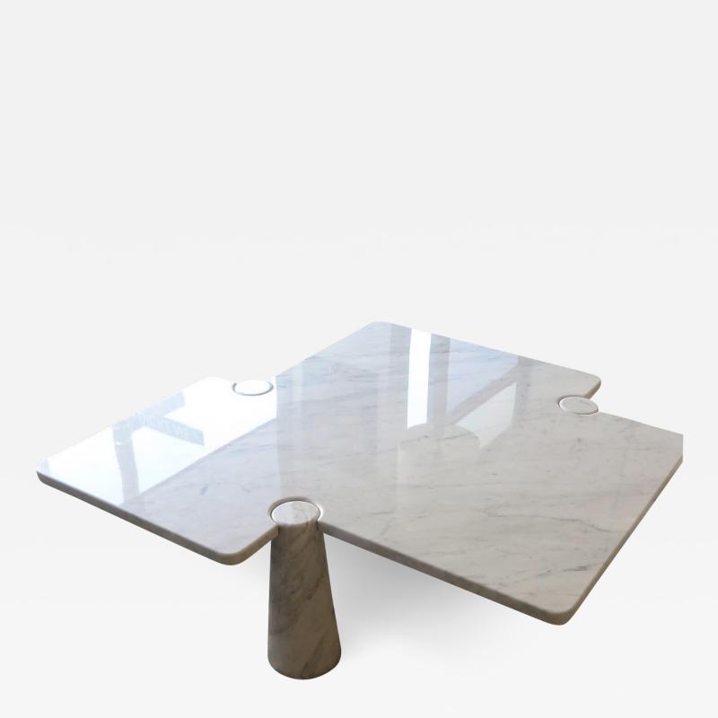 Angelo Mangiarotti Angelo Mangiarotti Eros Collection Freccia White Carrara Marble Coffee Table