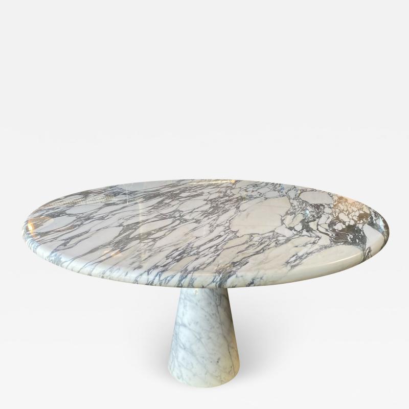 Angelo Mangiarotti Angelo Mangiarotti Marble Round Dining Table 1970s