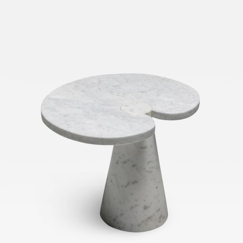 Angelo Mangiarotti Mangiarotti Carrara Marble Side Table Eros series for Skipper 1970s