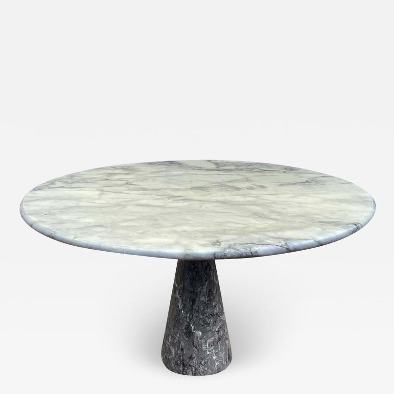Angelo Mangiarotti Mid Century Italian Modern Angelo Mangiarotti Round Marble Dining Table 1972