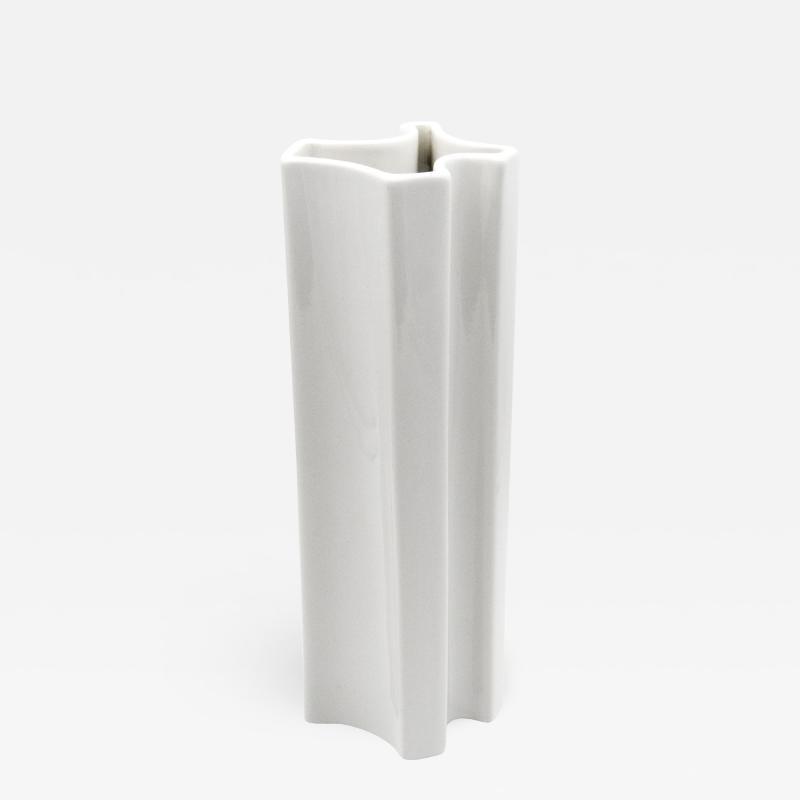 Angelo Mangiarotti Model M6 White Ceramic Vase by Angelo Mangiarotti for Ceramiche Brambilla 1968
