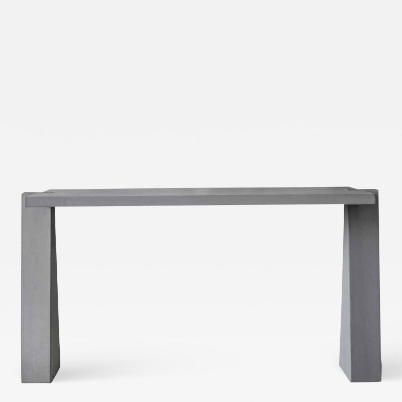 Angelo Mangiarotti PIETRA SERENA CONSOLE TABLE DESIGNED BY ANGELO MANGIAROTTI ITALY 1978