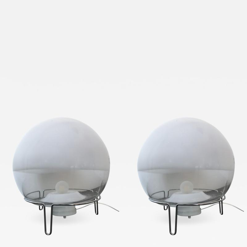 Angelo Mangiarotti Pair of Lamps by Angelo Mangiarotti for Skipper Italy 1980s