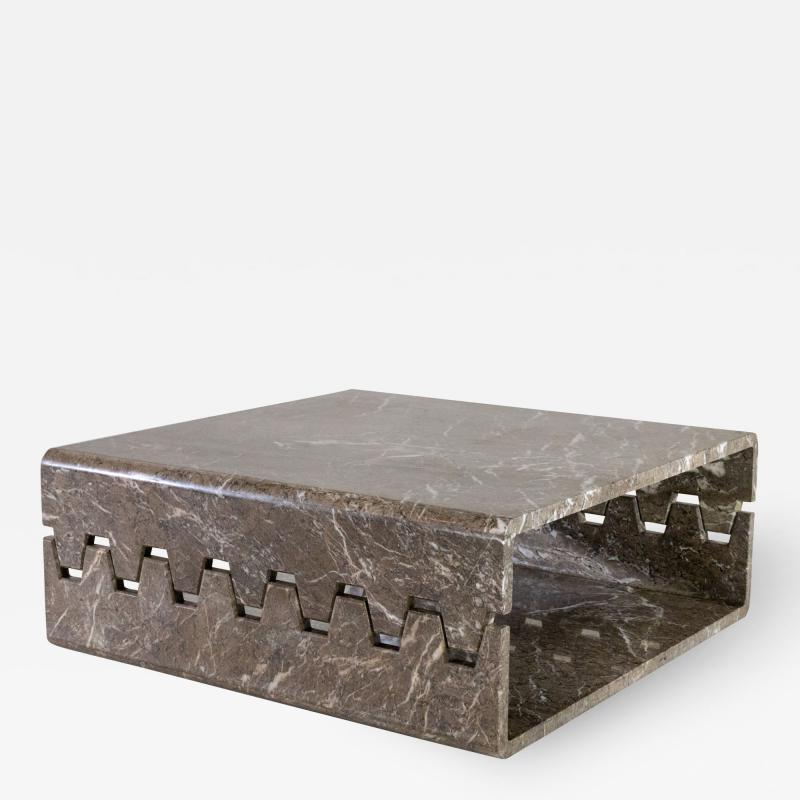 Angelo Mangiarotti Prototype Marble Coffee Table