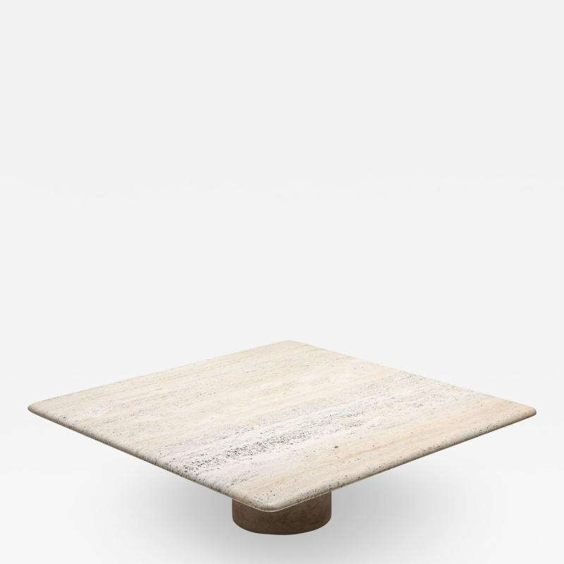 Angelo Mangiarotti Travertine Coffee Table by Angelo Mangiarotti 1970s
