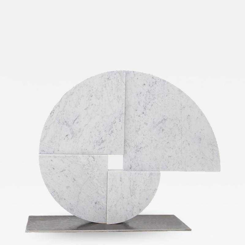 Angelo Mangiarotti White Carrara Marble sculpture by Angelo Mangiarotti for Skipper 1980s