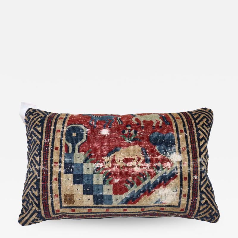 Animal Motif Tibetan Pillow rug no 31306b