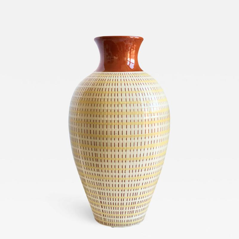 Anna Lisa Thomson Monumental Vase with Basket Weave Texture by Anna Lisa Thomson