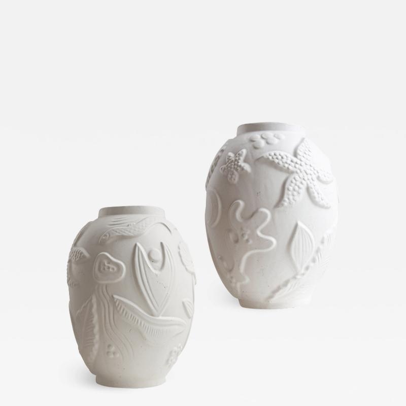 Anna Lisa Thomson Pair of Monumental Swedish Modern Vases by Anna Lisa Thomson