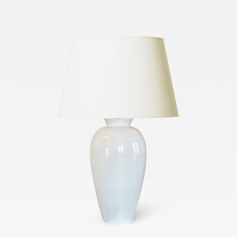 Anna Lisa Thomson Tall Classic Table Lamp in White Glaze by Anna Lisa Thomson