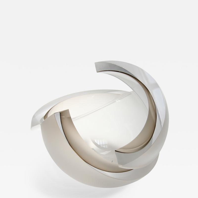 Anna Torfs Anna Torfs Armadillo Sphere Glass Sculpture or Vase in Smoke
